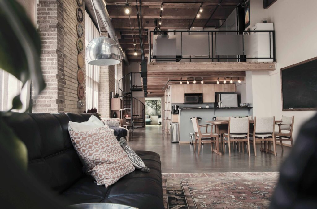 Estilo industrial en vivienda modular Cortabitarte
