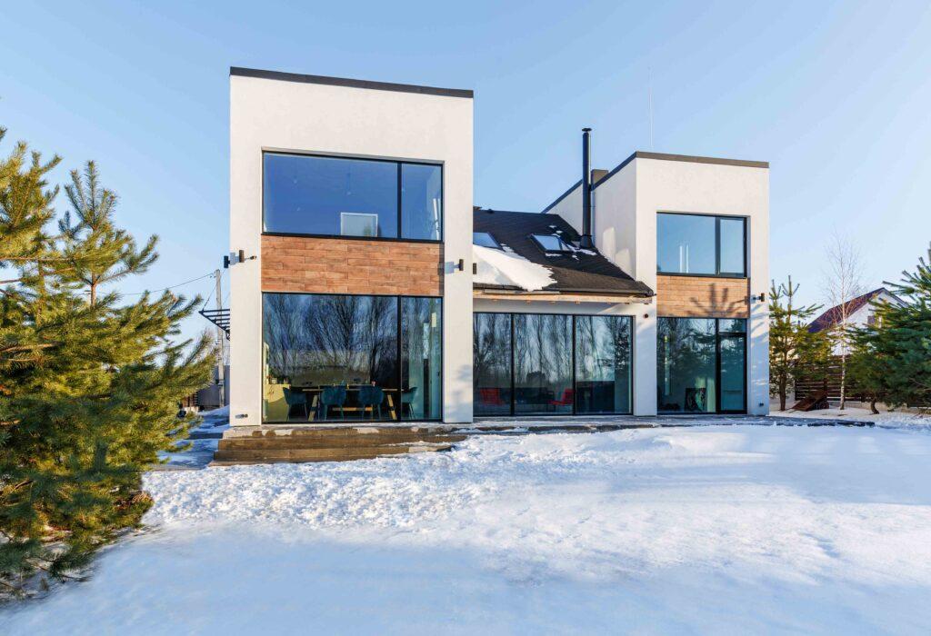 Diseño y arquitectura estilo Industrial en vivienda modular Cortabitarte.