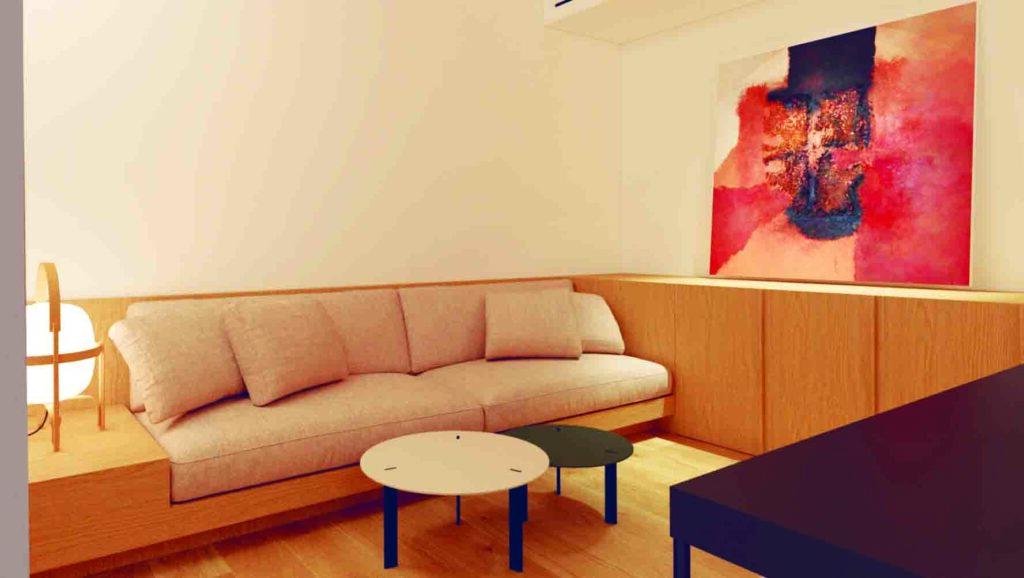 """"""" Detalle interior habitación Bussines. Hotel Passive House Cortabitarte."""""""